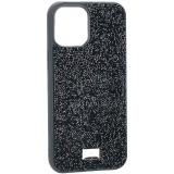Чехол-накладка силиконовая со стразами SWAROVSKI Crystalline для iPhone 12 Pro Max (6.7) Темно-зеленый №4