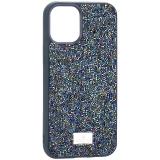 Чехол-накладка силиконовая со стразами SWAROVSKI Crystalline для iPhone 12 mini (5.4) Темно-зеленый №2