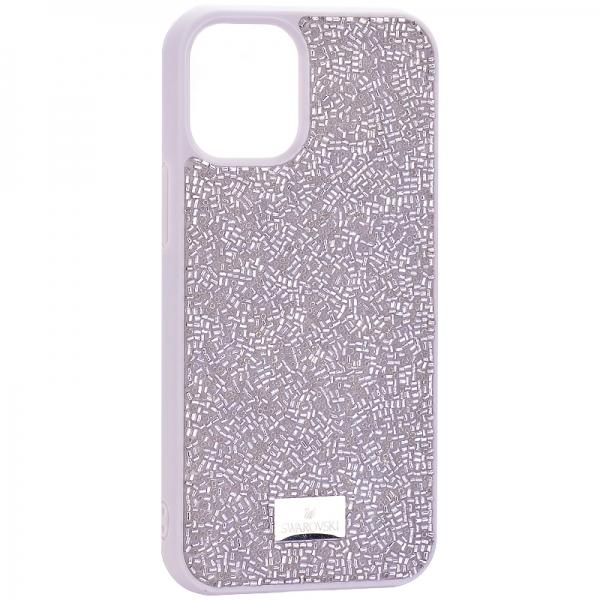 Чехол-накладка силиконовая со стразами SWAROVSKI Crystalline для iPhone 12 mini (5.4) Серый