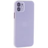 Чехол-накладка пластиковая K-Doo Air Skin 0.3мм для Iphone 12 (6.1) Белая