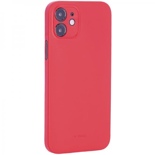 Чехол-накладка пластиковая K-Doo Air Skin 0.3мм для Iphone 12 (6.1) Красная