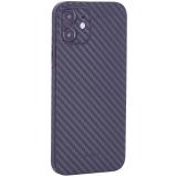 Чехол-накладка карбоновая K-Doo Air Carbon 0.45мм для Iphone 12 (6.1) Черная