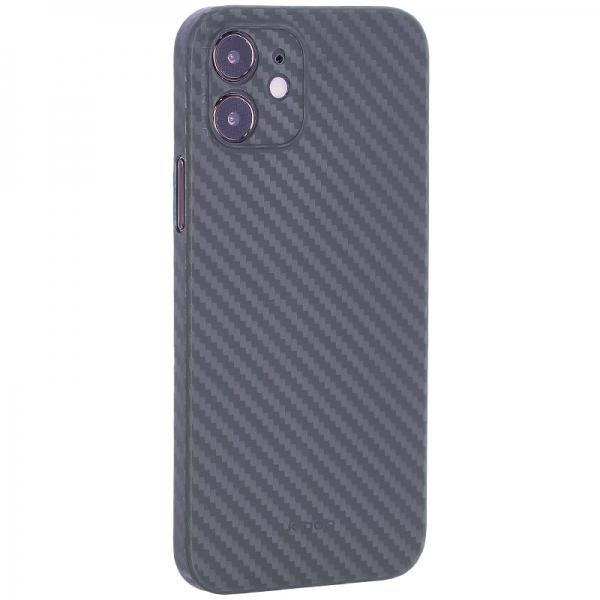 Чехол-накладка карбоновая K-Doo Air Carbon 0.45мм для Iphone 12 (6.1) Зеленая