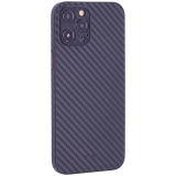 Чехол-накладка карбоновая K-Doo Air Carbon 0.45мм для Iphone 12 Pro Max (6.7) Черная