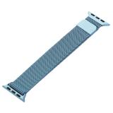 Ремешок из нержавеющей стали MAGNET Band для Apple Watch 38 мм Темно-голубой