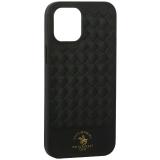 Накладка кожаная Santa Barbara Polo&Racquet Club Ravel Series для iPhone 12 Pro Max (6.7) Зеленая