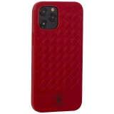 Накладка кожаная Santa Barbara Polo&Racquet Club Ravel Series для iPhone 12 Pro Max (6.7) Красная