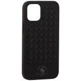 Накладка кожаная Santa Barbara Polo&Racquet Club Ravel Series для iPhone 12 mini (5.4) Черная