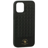 Накладка кожаная Santa Barbara Polo&Racquet Club Ravel Series для iPhone 12 mini (5.4) Зеленая