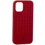 Накладка кожаная Santa Barbara Polo&Racquet Club Ravel Series для iPhone 12 mini (5.4) Красная
