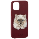 Накладка кожаная Santa Barbara Polo&Racquet Club SAV Series для iPhone 12 mini (5.4) Cat-кот