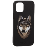 Накладка кожаная Santa Barbara Polo&Racquet Club SAV Series для iPhone 12 mini (5.4) Wolf-волк