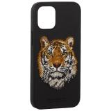 Накладка кожаная Santa Barbara Polo&Racquet Club SAV Series для iPhone 12 mini (5.4) Tiger-тигр