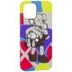 Чехол-накладка силикон Luxo для iPhone 12 Pro (6.1) 0.8мм с флуоресцентным рисунком KAWS J40