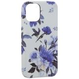 Чехол-накладка KINGXBAR для iPhone 12 mini (5.4) пластик со стразами Swarovski (Цветочная серия №1)