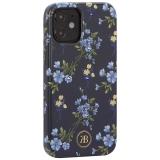 Чехол-накладка KINGXBAR для iPhone 12 mini (5.4) пластик со стразами Swarovski (Цветочная серия №2)