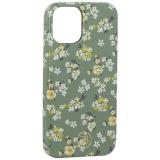 Чехол-накладка KINGXBAR для iPhone 12 mini (5.4) пластик со стразами Swarovski (Цветочная серия №3)