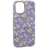 Чехол-накладка KINGXBAR для iPhone 12 mini (5.4) пластик со стразами Swarovski (Цветочная серия №4)