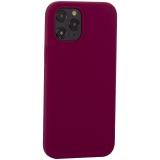 Накладка силиконовая MItrifON для iPhone 12 Pro Max (6.7) без логотипа Maroon Бордовый №52
