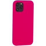 Накладка силиконовая MItrifON для iPhone 12 Pro Max (6.7) без логотипа Bright pink Ярко-розовый №47