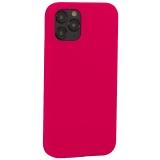 Накладка силиконовая MItrifON для iPhone 12 / 12 Pro (6.1) без логотипа Bright pink Ярко-розовый №47