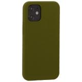 Накладка силиконовая MItrifON для iPhone 12 mini (5.4) без логотипа Marsh Болотный №48