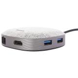 Переходник Baseus Fabric Series 7в1 (CAHUB-DXOG) Type-C to USB3.0x2/ HDMI 4K/ RJ45/ Type-C/ SD/ MicroSD для MacBook Графит