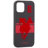 Накладка кожаная Santa Barbara Polo&Racquet Club SPGNE Series для iPhone 12 / 12 Pro (6.1) Черная