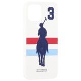 Накладка кожаная Santa Barbara Polo&Racquet Club SPGNE Series для iPhone 12 / 12 Pro (6.1) Белая