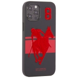 Накладка кожаная Santa Barbara Polo&Racquet Club SPGNE Series для iPhone 12 Pro Max (6.7) Черная