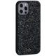 Чехол-накладка силиконовая со стразами SWAROVSKI Crystalline для iPhone 12 Pro Max (6.7) Темно-зеленый №2