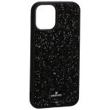 Чехол-накладка силиконовая со стразами SWAROVSKI Crystalline для iPhone 12 mini (5.4) Черный №6