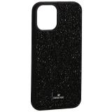 Чехол-накладка силиконовая со стразами SWAROVSKI Crystalline для iPhone 12 mini (5.4) Черный №5