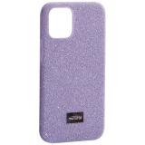 Чехол-накладка силиконовый со стразами Mutural для Iphone 12 mini (5.4) Лавандовый