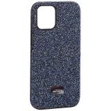 Чехол-накладка силиконовый со стразами Mutural для Iphone 12 mini (5.4) Синий