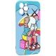 Чехол-накладка силикон Luxo для iPhone 12 Pro Max (6.7) 0.8мм с флуоресцентным рисунком KAWS J41