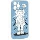 Чехол-накладка силикон Luxo для iPhone 12 Pro Max (6.7) 0.8мм с флуоресцентным рисунком KAWS J43