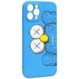 Чехол-накладка силикон Luxo для iPhone 12 Pro Max (6.7) 0.8мм с флуоресцентным рисунком KAWS Синий KS-26