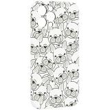Чехол-накладка силикон Luxo для iPhone 12 Pro Max (6.7) 0.8мм с флуоресцентным рисунком Бульдоги Белый