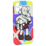 Чехол-накладка силикон Luxo для iPhone 12 mini (5.4) 0.8мм с флуоресцентным рисунком KAWS J40