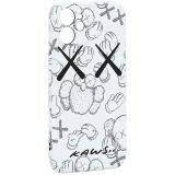 Чехол-накладка силикон Luxo для iPhone 12 mini (5.4) 0.8мм с флуоресцентным рисунком KAWS Белый KS-24