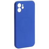 Чехол-накладка силиконовая J-case Creative Case Liquid Silica Magic Magnetic для iPhone 12 (6.1) Синий