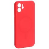 Чехол-накладка силиконовая J-case Creative Case Liquid Silica Magic Magnetic для iPhone 12 (6.1) Красный
