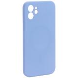 Чехол-накладка силиконовая J-case Creative Case Liquid Silica Magic Magnetic для iPhone 12 (6.1) Серо-лавандовый