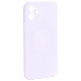 Чехол-накладка силиконовая J-case Creative Case Liquid Silica Magic Magnetic для iPhone 12 (6.1) Белый