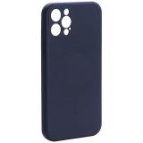 Чехол-накладка силиконовая J-case Creative Case Liquid Silica Magic Magnetic для iPhone 12 Pro (6.1) Черный