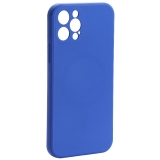 Чехол-накладка силиконовая J-case Creative Case Liquid Silica Magic Magnetic для iPhone 12 Pro (6.1) Синий