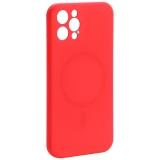 Чехол-накладка силиконовая J-case Creative Case Liquid Silica Magic Magnetic для iPhone 12 Pro (6.1) Красный