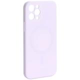 Чехол-накладка силиконовая J-case Creative Case Liquid Silica Magic Magnetic для iPhone 12 Pro (6.1) Белый