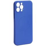 Чехол-накладка силиконовая J-case Creative Case Liquid Silica Magic Magnetic для iPhone 12 Pro Max (6.7) Синий